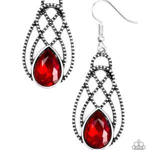 Paparazzi Chic Contessa - Red Earrings